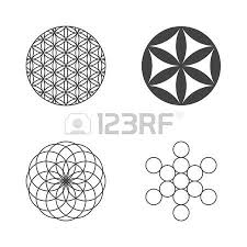 flower of life flat design royalty free cliparts vectors and