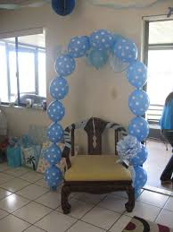 baby shower chairs balloon columns baby carriage shower chair decoration ideas