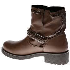 ladies biker style boots logan womens low heels studded ankle boots biker pull on ladies