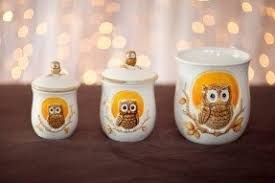 owl canisters for the kitchen unique canister sets foter