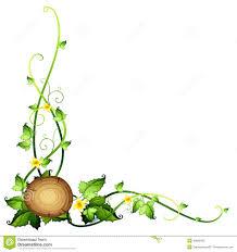pumpkins border clipart a leafy border design stock vector image 49696455