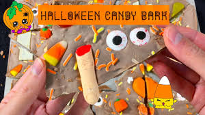 yummy chocolate candy halloween bark youtube