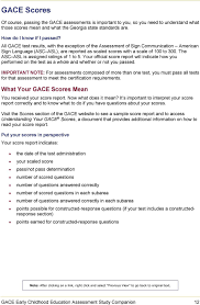 Sample Gre Score Report Gace Study Companion Early Childhood Education Assessment For