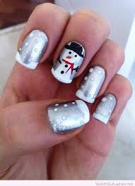 silver and white christmas nail art design u2013 watch out ladies