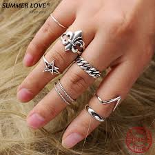 cross rings men images Summer love 100 real 925 sterling silver vintage cross rings for jpg