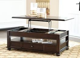 Wooden Coffee Table With Drawers Ashley Furniture Barilanni Dark Brown Lift Top Coffee Table With