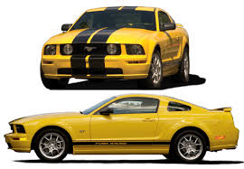 Yellow Mustang With Black Stripes Ford Racing Chicago Connection Your High Performance Parts