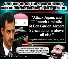 Back Off Meme - assad tells the kikes to back off or get btfo jew world order