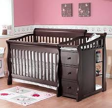 Convertible Cribs With Attached Changing Table Baby Crib With Attached Changing Table Converts To Size Bed