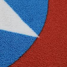 Red Round Rug Captain America Printed Round Rug Thinkgeek