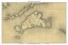 Map Of Mass Old Nautical Charts Of Martha U0027s Vineyard
