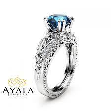 london blue topaz engagement ring london blue topaz engagement ring 14k white gold 2 carat topaz