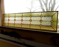 Vintage Transom Windows Inspiration Stained Glass Transom Window Etsy
