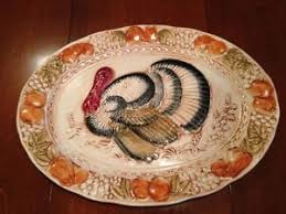 ceramic turkey platter 18 vintage embossed ceramic turkey platter ebay