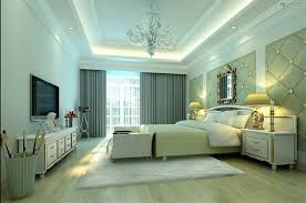 bedrooms pop false ceiling design with wooden tray for bedroom
