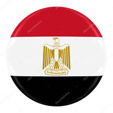 Eygpt Flag Egyptian Flag Badge Flag Of Egypt Button Isolated On White