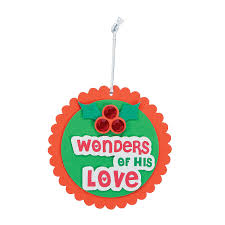 wonders of his love christmas ornament craft kit orientaltrading