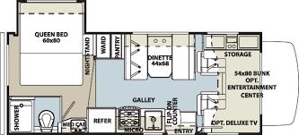 Motorhome Floor Plans Forest River Forester Ford Chassis Floorplans Florida Rv Dealer