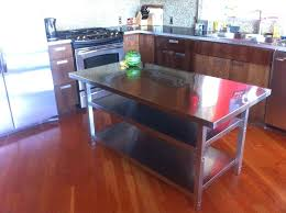 kitchen island with stainless steel top kitchen cart stainless steel top latitude run rectangular kitchen