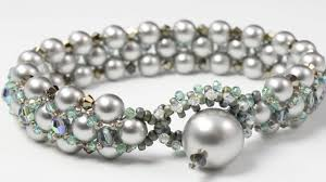 easy pearl bracelet images How to make beautiful and easy pearl bracelet designs flat spiral jpg