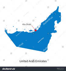 Map Of Abu Dhabi Detailed Vector Map United Arab Emirates Stock Vector 213882334