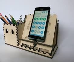 charging station organizer tablet stand promo price wood desk