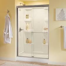 delta portman 48 in x 70 in semi frameless sliding shower door