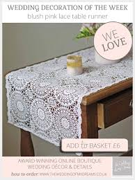 Blush Pink Table Runner Blush Pink Table Runner Lace