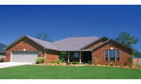 Ranch Style House Plans With Porch Brick And Stone Siding Also Ranch Style Floor Plans With Porches