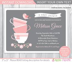 kitchen tea invitation ideas ba shower tea invites invitation ideas tea