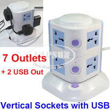ls with usb outlets 7 ways power strip multi switched vertical socket outlet 2 usb