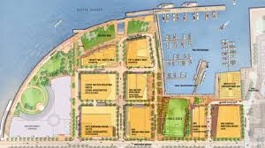 Hubway Map Fan Pier Boston Master Site Plan Extraordinary Waterfront Living