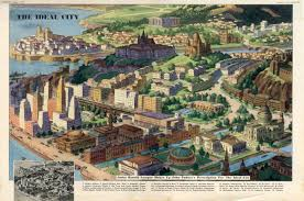 Future Map Of The World by A Map Of The Ideal City Anno 1951 Big Think