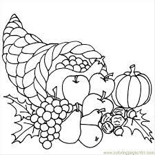 printable cornucopia coloring pages thanksgivingcornucopia coloring