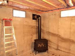 wood stove installed in basement fireplacevillage flickr