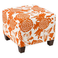 Buy Ottomans Brilliant Orange Ottoman Intended For Buy Ottomans From Bed Bath