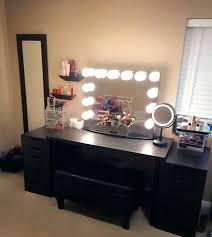 black vanity set with lights storage vanity table makeup table lights vanity set with drawers