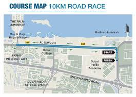 Marathon Route Map by Routes U0026 Maps Standard Chartered Dubai Marathon 2017