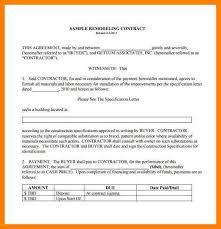 9 remodeling agreement coaching resume