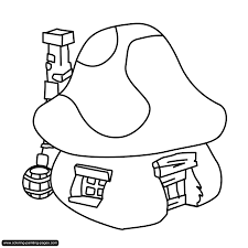 smurf coloring page coloring for kids 6518