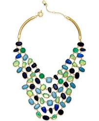 multi stone necklace images Lauren ralph lauren gold tone multi stone bib necklace fashion tif