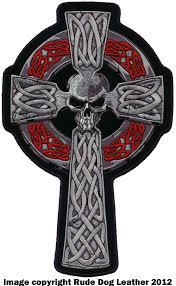 cross skull patch