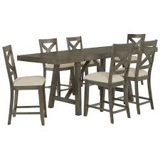 Gray Dining Room Table City Furniture Omaha Gray High Dining Table