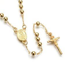 christian jewlery unisex rosary necklace strand cross pendant women and