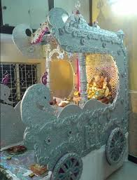 Home Temple Decoration Ideas Ganpati Decoration Ideas At Home Ganesh Pooja Decoration Pooja