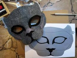 diy felt panther mask halloween pinterest masking costumes