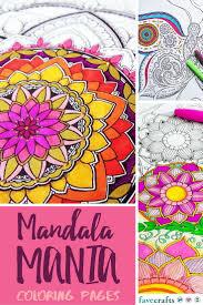 mandala mania 13 mandala coloring pages favecrafts com