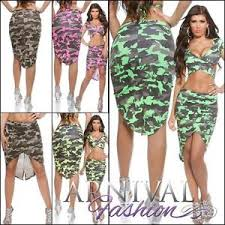 camo print wrap skirt summer xs s m l womens casual short