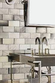 Mirrored Subway Tile Backsplash Bathroom Transitional With by Best 25 Mirrored Subway Tiles Ideas On Pinterest Half Baths