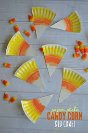 paper plate candy corn kid craft blitsy